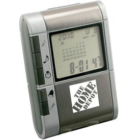 Slide-Out Calculator And World Time Clock Imprinted with Your Logo
