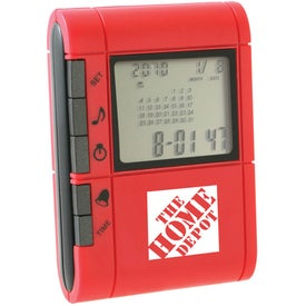 Printed Slide-Out Calculator And World Time Clock