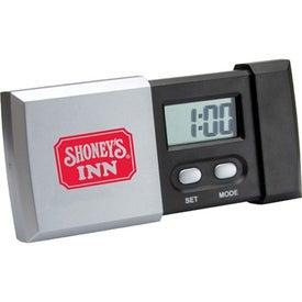 Logo Sliding Digital LCD Travel Alarm Clock