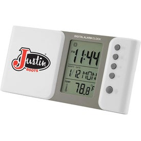 Sliding Multiple Functions Digital LCD Alarm Clock for Marketing