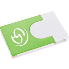 Snap Media Holder with Screen Cleaner Printed with Your Logo
