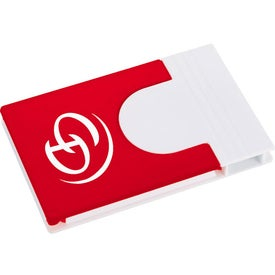 Promotional Snap Media Holder with Screen Cleaner