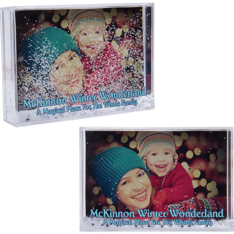Promotional Snow Globe Photo Frames with Custom Logo for $4.26 Ea.