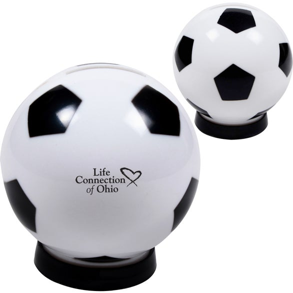 White / Black Soccer Bank