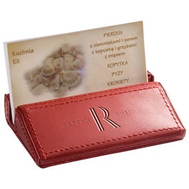 Imprinted Soho Desk Business Card Holder