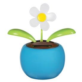 Imprinted Solar Powered Dancing Flower