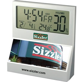 LCD Desk Clock Branded with Your Logo