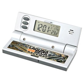 Compact LCD Travel Alarm Clock