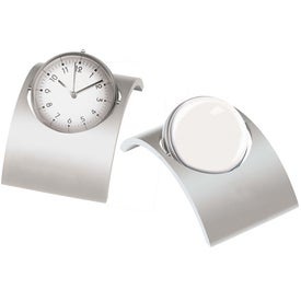 Monogrammed Spinning Desk Clock