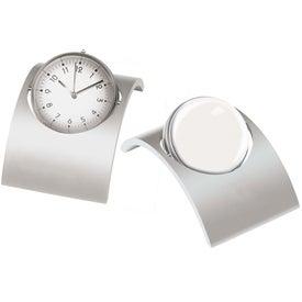 Monogrammed Spinning Desk Clock