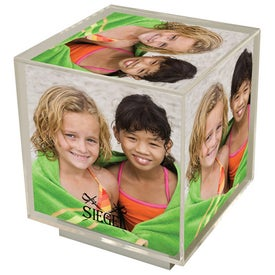Company Spinning Photo Cube