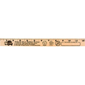 "Sports Out ""U"" Color Rulers - Natural Wood Finish for Customization"
