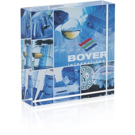 Square Acrylic Paperweight for Your Company