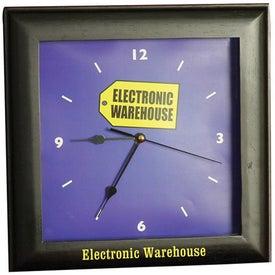 Customized Square Wood Clock