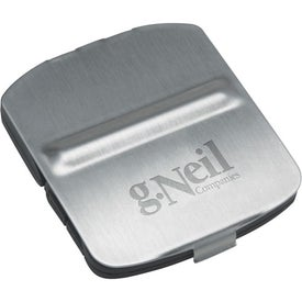 Monogrammed Stainless Steel Cover Alarm Clock