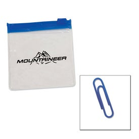 Standard Paper Clips in Clear Pouch with Color Trim
