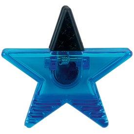Monogrammed Star Clip Magnet