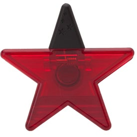Star Memo Holder Magnet Branded with Your Logo