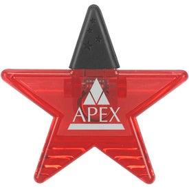 Logo Star Rubber Grip Clip