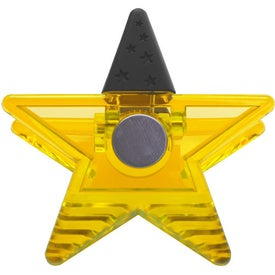 Branded Star Rubber Grip Clip