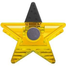 Branded Star Rubber Grip Clip