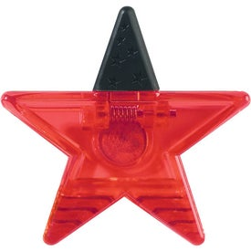 Star Shape Clip Imprinted with Your Logo