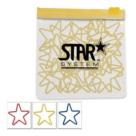 Star Shaped Rubber Bands in Clear Pouch with Trim