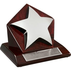 Stella IV Star on Pentagon Base Award (Wood)