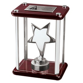 Stella V Enclosed Star in Wood and Glass Case Award