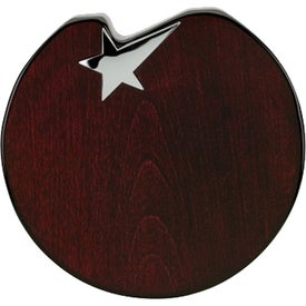 Stella VI Wood Desk Top Plaque with Star Award for Advertising