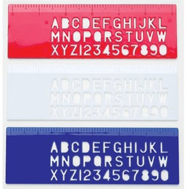 Alpha/Numeric Stencil Ruler for Customization