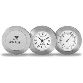 Personalized Sterling Trio Clock