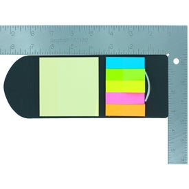 Company Sticky Notes and Flag in Pocket Case
