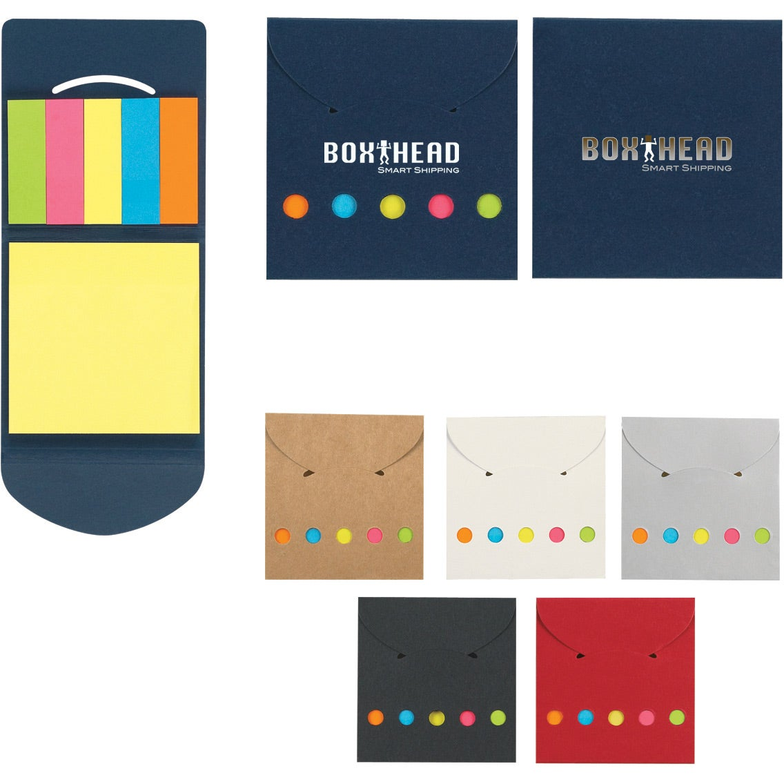 Sticky Notes And Flag In Pocket Case