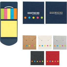 Paper Sticky Notes and Flags in Pocket Case