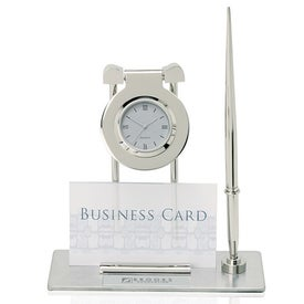 Struttura I Swinging Clock and Pen Stand with Business Card