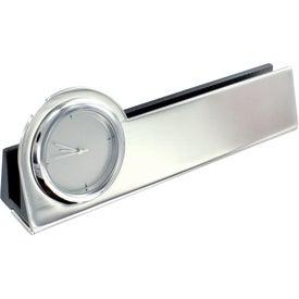 Struttura III Clock and Business Card Holder