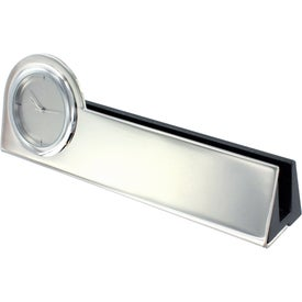 Advertising Struttura III Clock and Business Card Holder