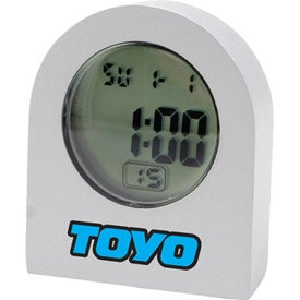 Stylish Metal Quartz LCD Alarm Clock