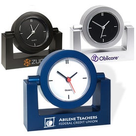 Swivel Clocks Branded with Your Logo