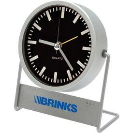 Company Swivel Desk Clock