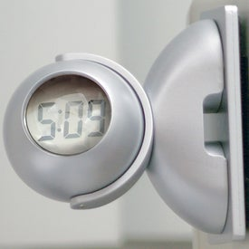 Logo Swivel Head Bubble Clock
