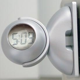Logo Swivel Head Bubble Clock