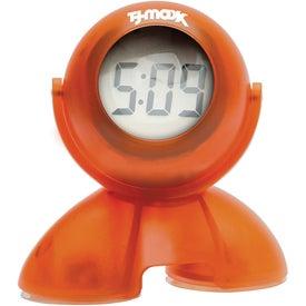 Customized Swivel Head Bubble Clock