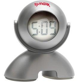 Personalized Swivel Head Bubble Clock