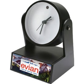 Swivel Clock With Weighted Base Branded with Your Logo