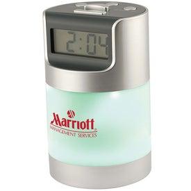 Branded Talking LCD Alarm Clock With 360 Degree Desk Light