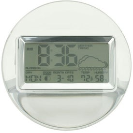 Termo Acrylic and Chrome Digital Clock Weather Station for Customization