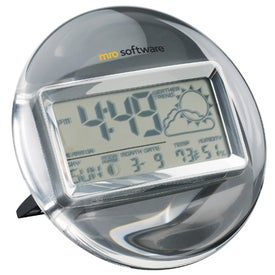 Termo Acrylic and Chrome Digital Clock Weather Station