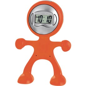 Advertising The Flex Man Digital Clock